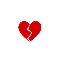 heart broken flat design icon vector image