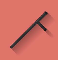 Icon of Police baton or police nightstick Or Tonfa vector