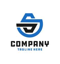 industrial business logo letter s vector image