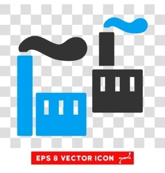 Industrial Plants Eps Icon vector