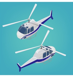 Isometric Helicopter Transportation Mode Aircraft vector