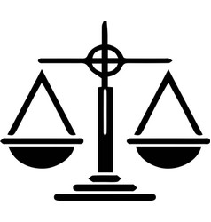 Justice scale icon on white background vector