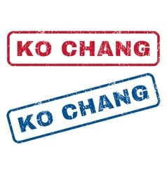Ko Chang Rubber Stamps vector