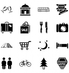 Location tourism icons vector