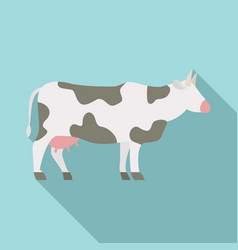 Milk cow icon flat style vector