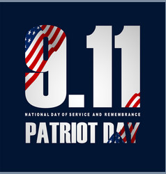 Patriot day poster september 11th national day vector