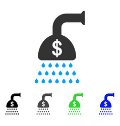 Payment shower flat icon vector