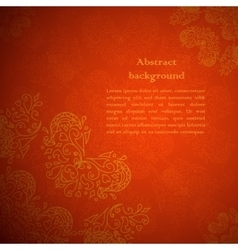 Red ornament background vector