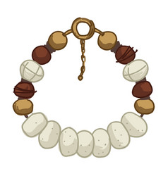 Safari style bracelet or necklace natural material vector
