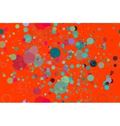 seamless pattern colored circles on a red vector image