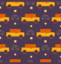 Seamless surface pattern with children cars vector