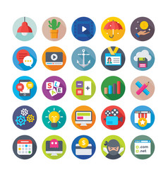 seo and digital marketing icons 6 vector image