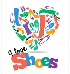Shoes sale background vector image
