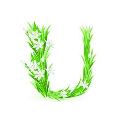 spring flowers alphabet u vector image