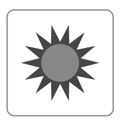 Sun icon Symbol black sunrise isolated heat vector image