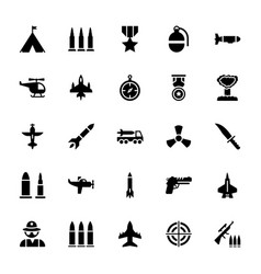 tactical gears icons pack vector image