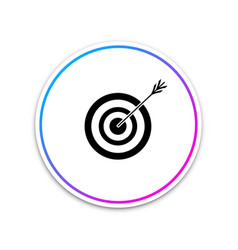 target with arrow icon on white background vector image
