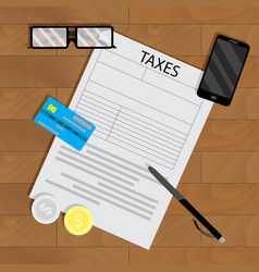 tax form vector image