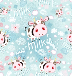 texture of the cows and milk vector image