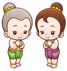 Thai kids vector