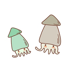 The two of squids vector