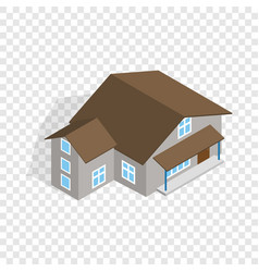 three storey house isometric icon vector image