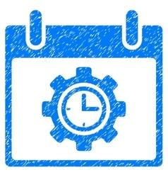 Time Gear Calendar Day Grainy Texture Icon vector image