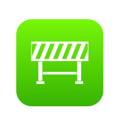 traffic barrier icon digital green vector image