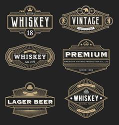 Vintage frame design for labels banner logo vector