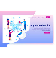 Virtual augmented reality concept vector