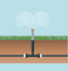 water irrigation automatic sprinklers system vector image vector image
