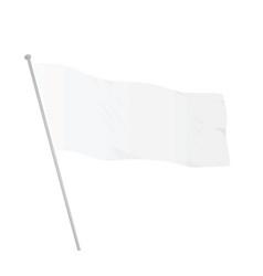 White flag template vector