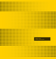 Yellow background with black halftone dots vector