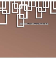 3d trendy geometric background vector image