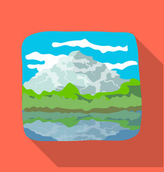 Canadian waterfall canada single icon in flat vector