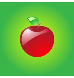 Glossy red apple vector image vector image