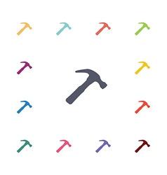 hammer flat icons set vector image vector image
