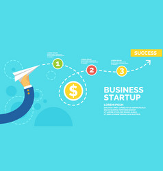 infographics and poster for business start up vector image