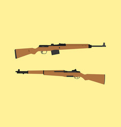 Compare vs versus between usa america m1 garand vector