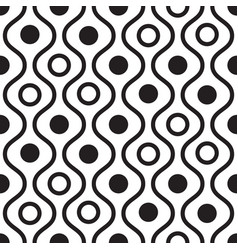 geometric black and white minimalistic wavy vector image