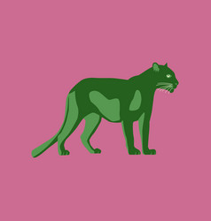 In flat style panther vector
