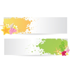 banners summer vector image vector image