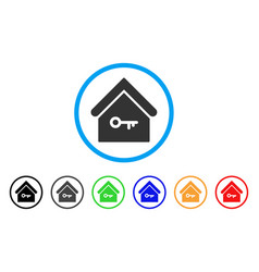 home key rounded icon vector image