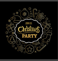 merry christmas party invitations and greeting vector image vector image