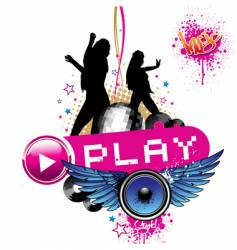 play vector image vector image