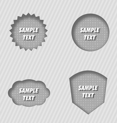 pressed labels vector image
