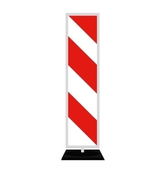 Road signs Red Badge guardrails vector image