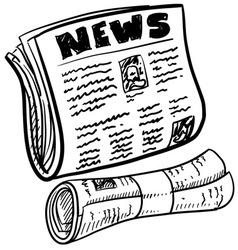 doodle newspaper vector image vector image