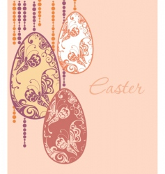 Easter eggs garland vector image vector image