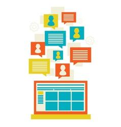 Flat modern mobile communication technology vector image